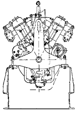 Схема дизельного двигателя 1Д12.